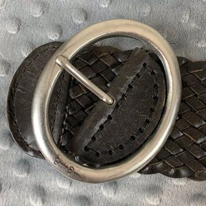 "Jessica Simpson leather braided belt/45"""